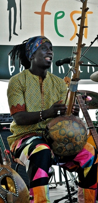 Edou Mangas beim Afrika-Festival in Böblingen