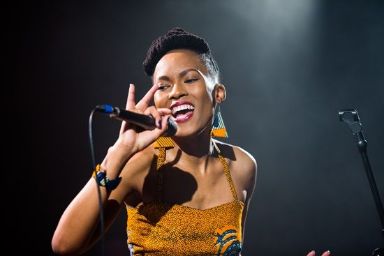 Thabilé singt auf dem Afrika-Festival in Böblingen